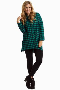 Jade-Black-Plaid-Flannel-Button-Up