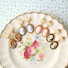 Vintage wedding ideas cameo infused weddings from Etsy earrings for bridesmaids