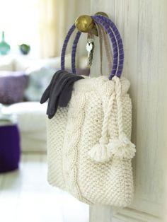 Tasche stricken - mit kostenloser Anleitung. HIER KLICKEN!
