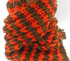 Team Spirit Orange & Brown Knit Scarf