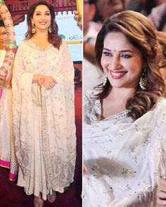 Gorgeous as always! Dhak Dhak girl Madhuri Dixit was seen looking pretty in her Indian outfit as she attended the Dahi Handi celebration this year.