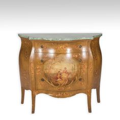Empire Commode with Faux Marble Top