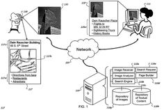 Google applies for 'snap a landmark, find your location' patent:   http://patft.uspto.gov/netacgi/nph-Parser?Sect1=PTO2&Sect2=HITOFF&u=%2Fnetahtml%2FPTO%2Fsearch-adv.htm&r=1&p=1&f=G&l=50&d=PTXT&S1=8,131,118&OS=8,131,118&RS=8,131,118