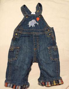Gymboree Little Peanut Boys Overalls Size 3-6 Months Elephant Outfit  #Gymboree