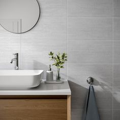 Linea Grey | Bathroom Wall Tiles | Porcelain Superstore