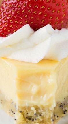 Lemon Cream Pie with a Poppy Seed Crust