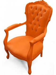 Dutch design furniture collection, Plastic Fantastic by Dutch designer Jasper van Grootel available on Dutch Design Only. Traditional Chairs, Coral, My Favorite Color, Orange Color, Home Accessories, Armchair, Interior Design, Orange Chairs, Home Decor