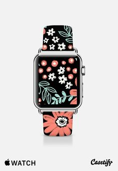 Chalky Flowers Apple Watch Band (38mm) by Kristin Nohe | Casetify