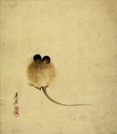 """Mouse"" - Shibata Zeshin, about 1860's, Japan"