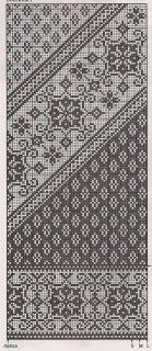 Beautiful pattern, for knitting or embroidery - it'd be cool to convert it to bobbin lace... torchon maybe?