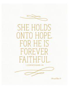 1 Corinthians 1:9 Print Scripture Bible Verse by loveandgraceco
