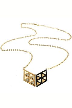 Contrasting Hollow-out Geometric Necklace #Romwe