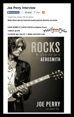 JOE PERRY ON KISS 108 IN BOSTON THIS MORNING PROMOTING HIS BOOK #ROCKS