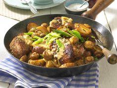 Neue Kartoffeln - köstlich kombiniert! - kartoffel-steakpfanne