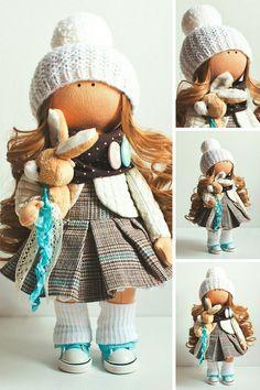 Tilda doll Baby doll Puppen Bambole Handmade doll Bonita doll Fabric doll Interior doll Textile doll Brown doll Nursery doll by Aleya __________________________________________________________________________________________ Hello, dear visitors! This is handmade soft doll created