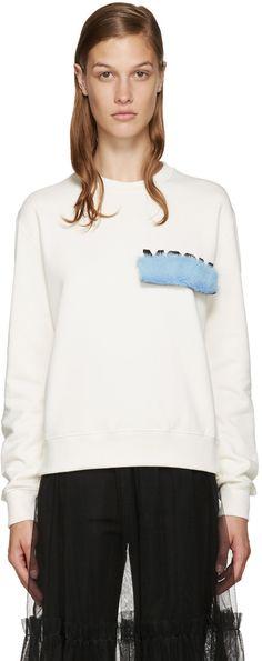 MSGM Ivory Mink Patch Sweatshirt. #msgm #cloth #sweatshirt