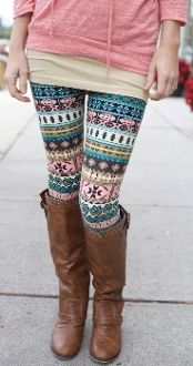 Pink, Green, & Blue Print Leggings $12.99!