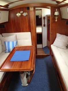 Boats for Sale Sailboat Interior, Yacht Interior, Interior Design, Liveaboard Boats, Boat Decor, Boat Projects, Boats For Sale, Pontoon Boat, Rustic Design