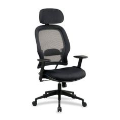 Pin it :-) Follow us :-)) AzOfficechairs.com is your Office chair Gallery ;) CLICK IMAGE TWICE for Pricing and Info :) SEE A LARGER SELECTION of  global office chair at http://azofficechairs.com/?s=global+office+chair - office, office chair, home office chair - SPACE® Air Grid® Series High Back Chair with Headrest CHAIR,EXECUTIVE MGRS,BK (Pack of 2) « AZofficechairs.com
