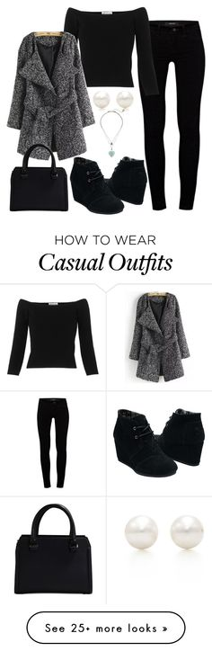 """""""Casual"""" by nikke9doors on Polyvore featuring Mode, J Brand, Whistles, TOMS, Tiffany & Co., Betsey Johnson und Victoria Beckham"""