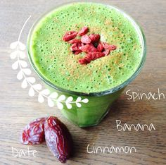 RECEPT: Banana Date Green Smoothie - Boost Your Health