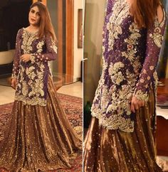 Someone give me a reason to wear this gorgeous lehnga by Shadi Dresses, Pakistani Formal Dresses, Pakistani Wedding Outfits, Pakistani Wedding Dresses, Pakistani Dress Design, Bridal Outfits, Indian Dresses, Pakistani Couture, Fancy Dress Design