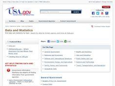 gov Data Statistics by topic Usa Gov, Statistical Data, Blog Topics, I Site, Statistics, Make It Simple, Big Data