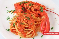The Recipe for Spaghetti with Lobster   Italian Food Recipes   Genius cook - Healthy Nutrition, Tasty Food, Simple Recipes