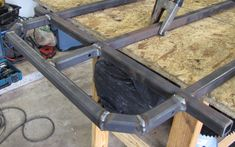 How to build a go kart frame from the go kart plans. Arrange the steel tubing on your workbench, tack weld the joints together, and weld between the tacks. Go Kart Frame Plans, Go Kart Plans, Build A Frame, Go Kart Chassis, Tube Chassis, Fun Kart, Diy Go Kart, Go Kart Buggy, Off Road Buggy