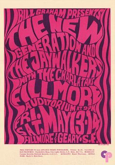 New Generation at Fillmore Auditorium 5/13-14/66 by Wes Wilson