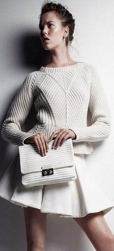 Knitted: Josefien Rodermans by Victor Demarchelier (White Mischief - UK Harper's Bazaar December 2013) ♥✤ | KeepSmiling | BeStayClassy