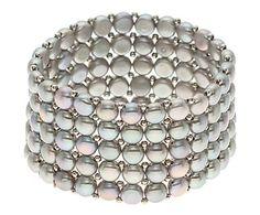 Braccialetto in perle d'acqua dolce Grey Pearls, max L 18 cm