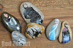 Frozen Story Stones - Red Ted Art's Blog