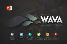 Wava | Powerpoint template by Zacomic Studios on @creativemarket