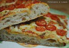 Pizza alta in teglia con lievito madre a impasto diretto