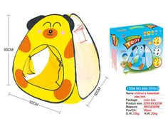 Cute Cartoon Puppy Tent for kid, children, infant, baby play outside toy
