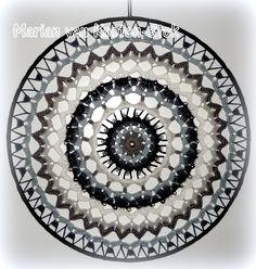 Crochet mandala or suncatcher. I used this patttern http://www.pinterest.com/pin/126734176987643122/
