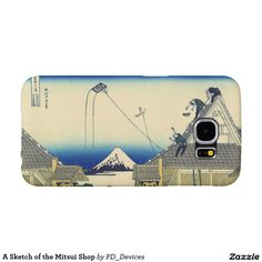 A Sketch of the Mitsui Shop Mount Fuji Japanese Woodblock Print Samsung Galaxy S6 Cases
