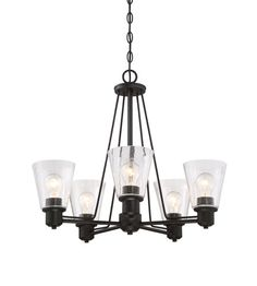 Designers Fountain 88085-ORB Printers Row 5 Light 24 inch Oil Rubbed Bronze Chandelier Ceiling Light photo