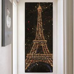 World Famous Buliding Eiffel Tower Wall Art Painting Print On Canvas Modern Style Single Panel Large Wall Posters For Home Decor Painting Prints, Canvas Prints, Nordic Art, Diy Carpet, Geometric Wall, Holiday Lights, Diy Canvas, Art Wall Kids, Handmade Decorations
