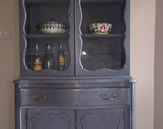 SOLD: Shabby Chic French Provincial China Cabinet