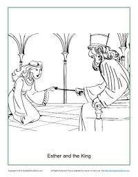 esther coloring page - free printable bible coloring page on ... - Esther Bible Story Coloring Pages