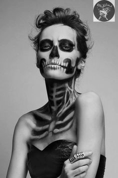 Face art - disguised as skeleton