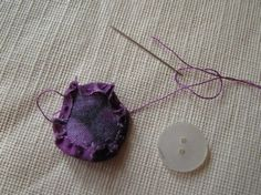 Threads and patches: Fabric button tutorial