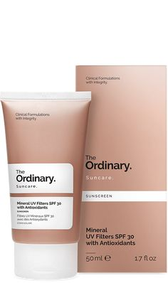 Mineral UV Filters SPF 30 with Antioxidants - 50ml (to look into)