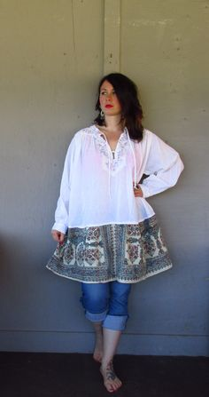 15 off Bohemian tunic dress/upcycled by lillienoradrygoods on Etsy, $68.50