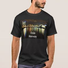 Oslo Norway at night T-Shirt - light gifts template style unique special diy
