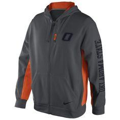 Nike Men's Oklahoma State University KO Full-Zip Hoodie