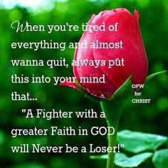 With God you will never lose!