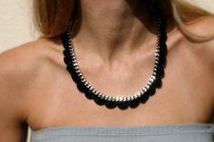 Statement Necklace - Crochet Necklace - Winter Fashion  #crochet